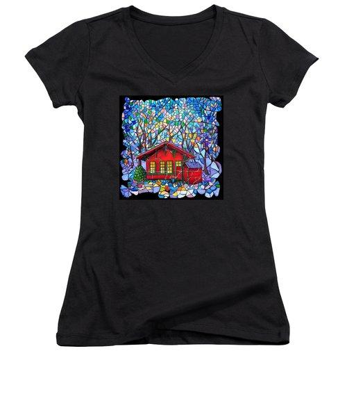 Art Depot Women's V-Neck T-Shirt (Junior Cut)
