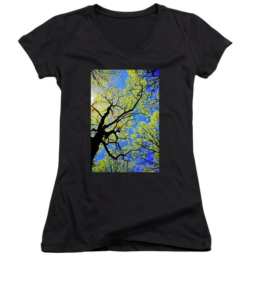 Artsy Tree Canopy Series, Early Spring - # 02 Women's V-Neck