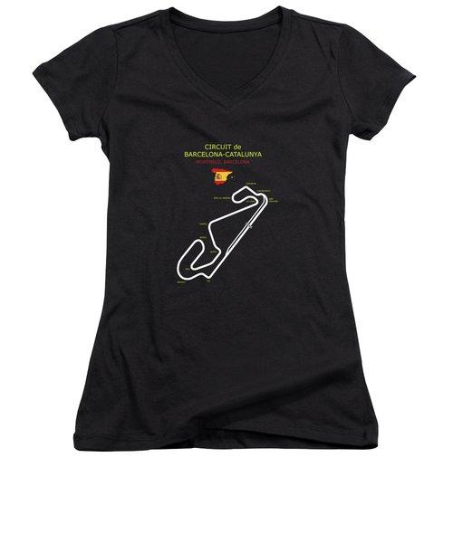 Circuit De Barcelona Catalunya Women's V-Neck (Athletic Fit)