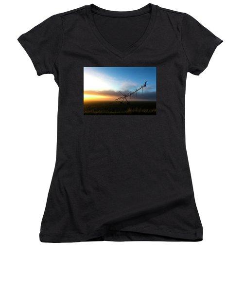 Sunrise Sprinkler Women's V-Neck T-Shirt