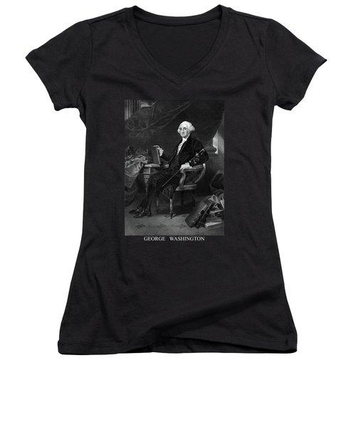 George Washington Women's V-Neck (Athletic Fit)