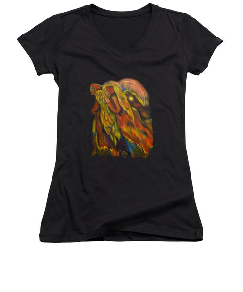 Heavenly Messengers Women's V-Neck (Athletic Fit)