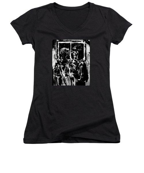 I Am The Way Women's V-Neck T-Shirt (Junior Cut) by Alfred Motzer