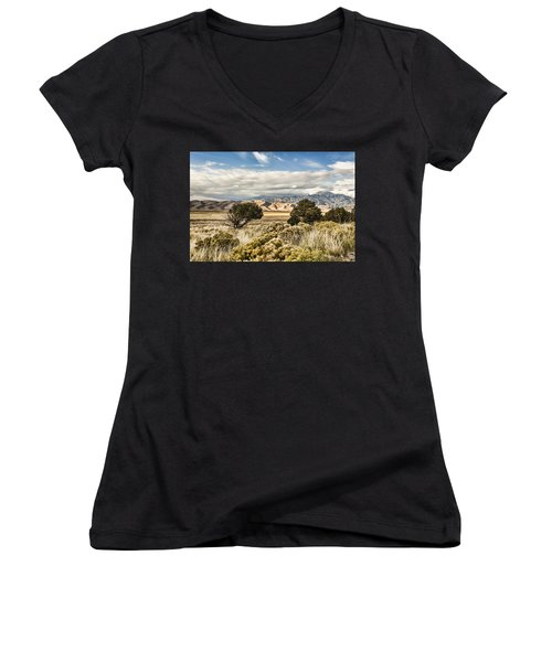 Great Sand Dunes National Park And Preserve Women's V-Neck (Athletic Fit)