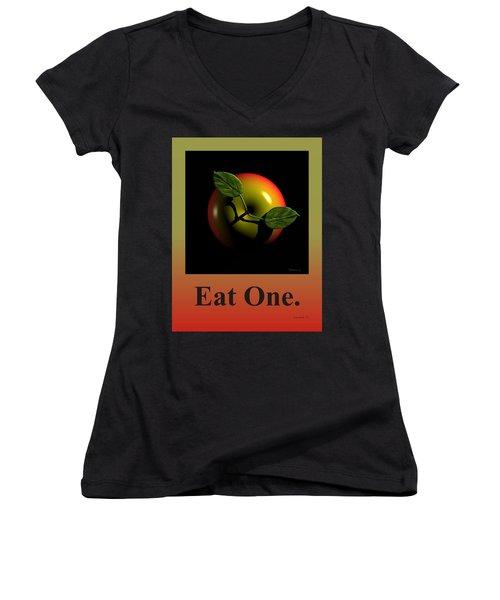 Eat One  Women's V-Neck