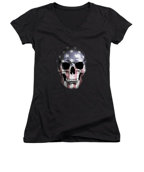 American Skull Women's V-Neck T-Shirt