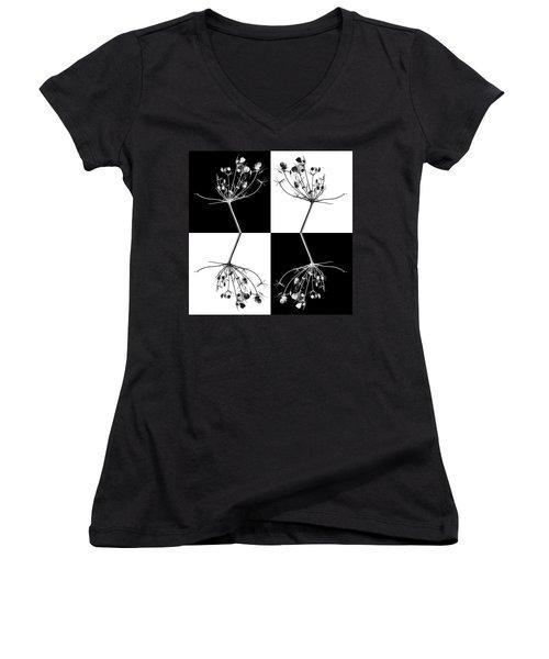 Organic Enhancements 9 Women's V-Neck T-Shirt (Junior Cut) by Paul Davenport