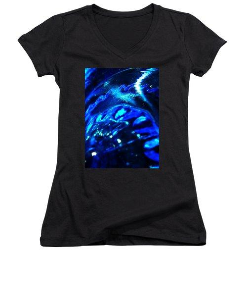 Glowing Glass Beauty Women's V-Neck T-Shirt (Junior Cut) by Samantha Thome