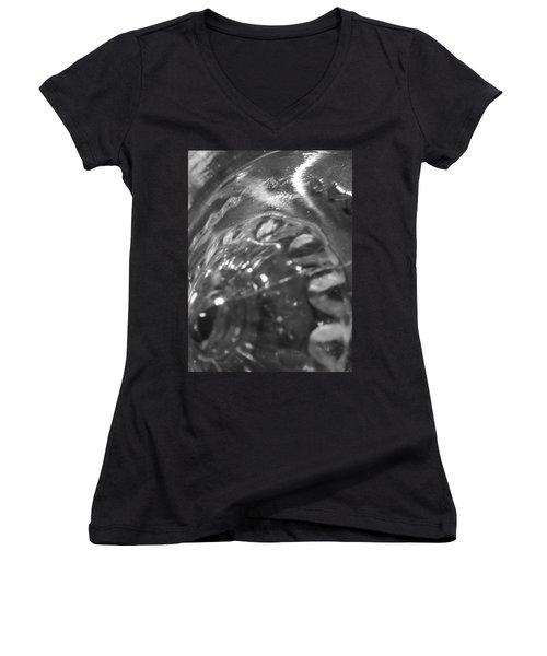 Metallic Glass Women's V-Neck T-Shirt (Junior Cut) by Samantha Thome