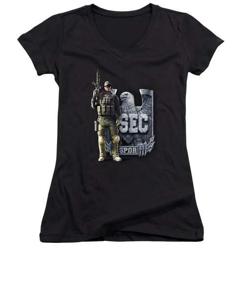 Spectral Dragon Collection Women's V-Neck T-Shirt
