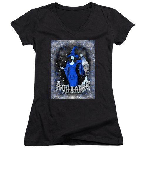 The Water Bearer Aquarius Spirit Women's V-Neck