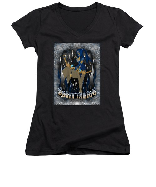 The Archer Sagittarius Spirit Women's V-Neck