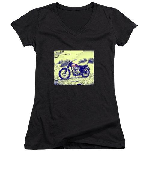 67 Bonneville Tt Special Women's V-Neck T-Shirt