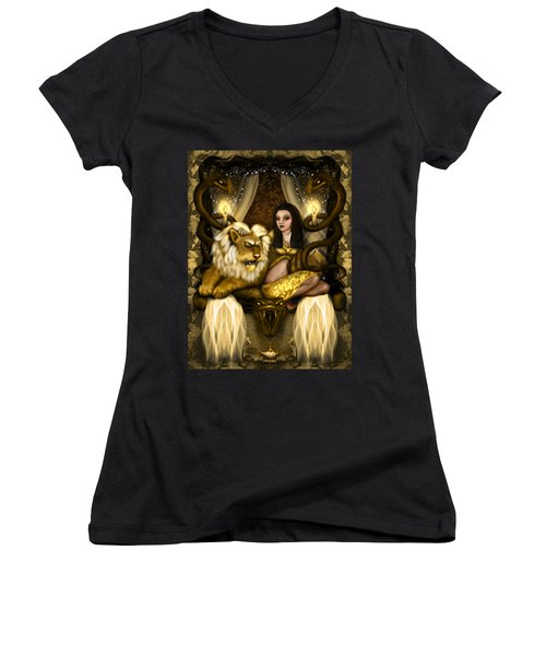 The Serpent Gateway Fantasy Art Women's V-Neck