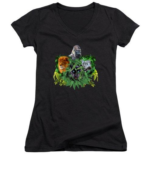Jungle Guardians Women's V-Neck (Athletic Fit)