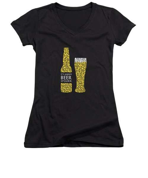 Its Always Beer Oclock Women's V-Neck (Athletic Fit)
