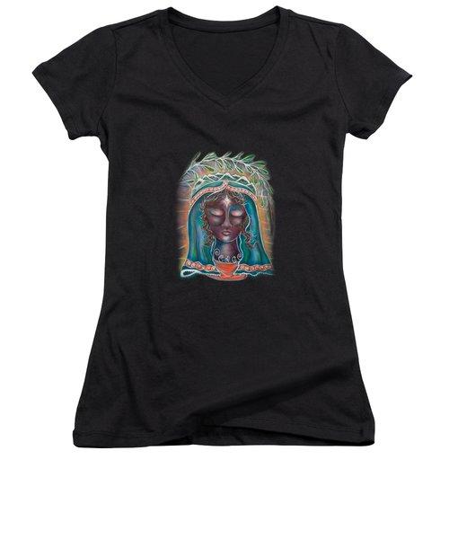 Black Madonna Women's V-Neck T-Shirt