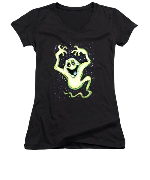 Ghost Women's V-Neck T-Shirt (Junior Cut) by Kevin Middleton