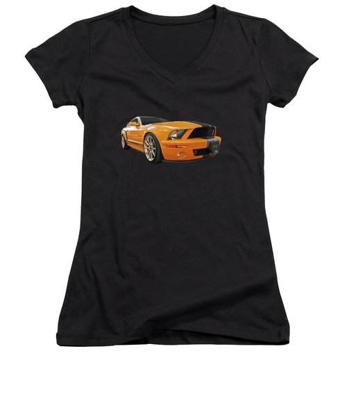 Cobra Power - Shelby Gt500 Mustang Women's V-Neck (Athletic Fit)