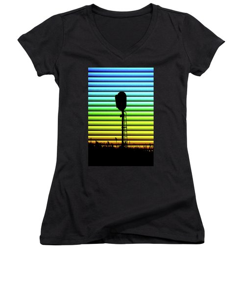 Signal At Dusk Women's V-Neck (Athletic Fit)
