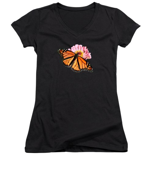 Migrant Worker Women's V-Neck T-Shirt (Junior Cut) by Nikolyn McDonald