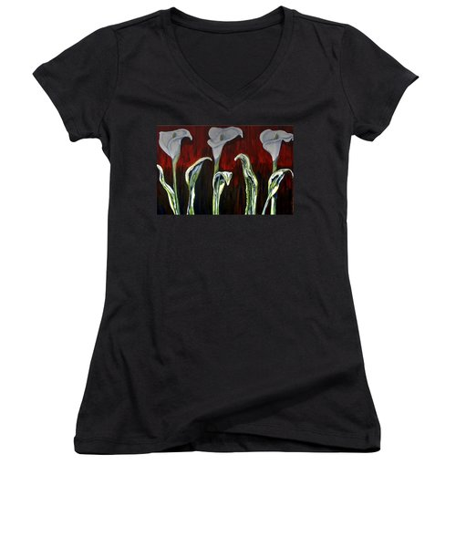 Arum Lillies Women's V-Neck