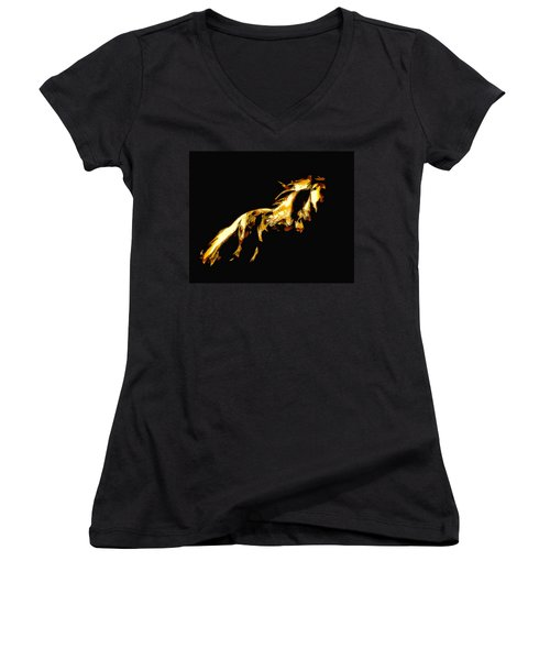 Asian Stallion Women's V-Neck (Athletic Fit)