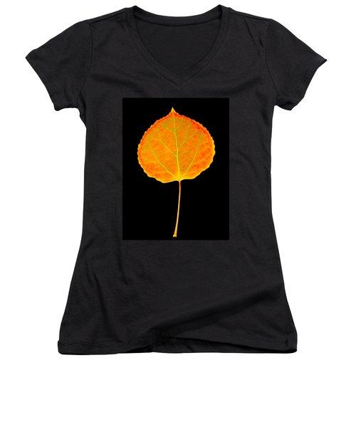 Aspen Leaf Glory Women's V-Neck