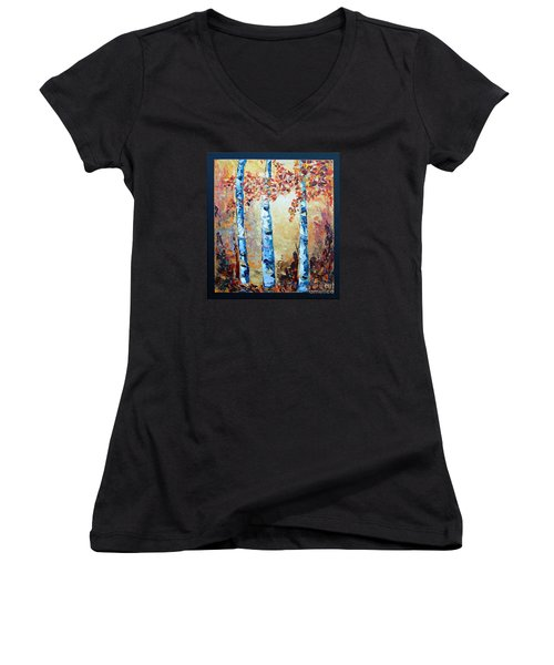 Aspens In Glow Women's V-Neck