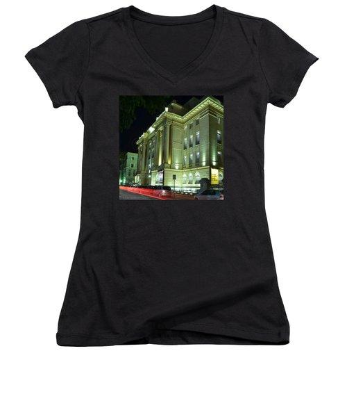 Assim Como O Rio E São Paulo, A Women's V-Neck T-Shirt (Junior Cut) by Carlos Alkmin