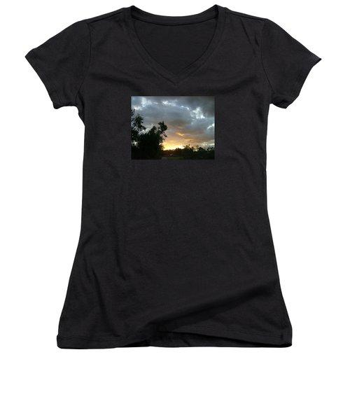 At Daybreak Women's V-Neck T-Shirt