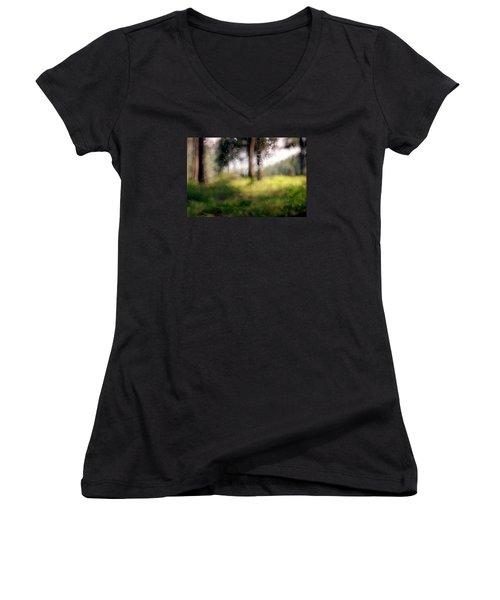 At Menashe Forest Women's V-Neck T-Shirt