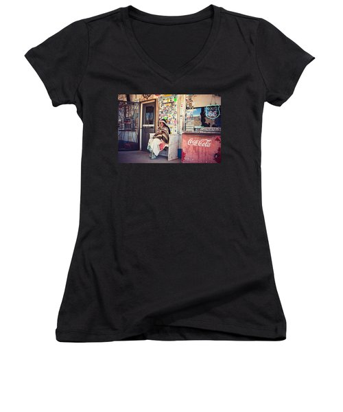 At The Hackberry General Store Women's V-Neck (Athletic Fit)