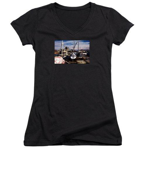 Athena Women's V-Neck T-Shirt (Junior Cut) by David Blank