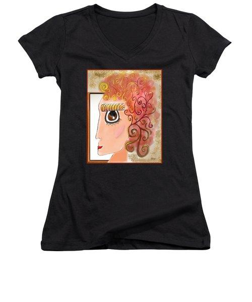 Athena In The Mirror Women's V-Neck