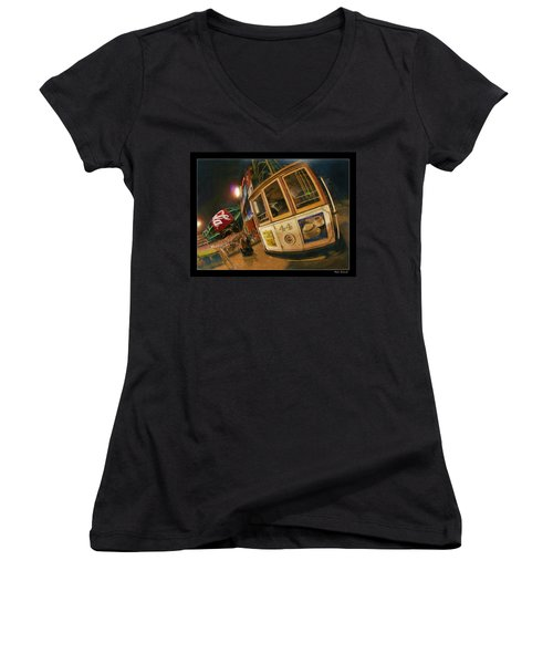 Att Park At Night Women's V-Neck