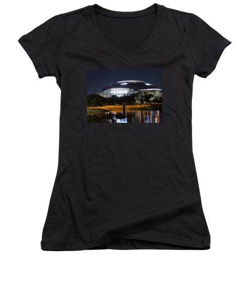 Dallas Cowboys Stadium 1016 Women's V-Neck