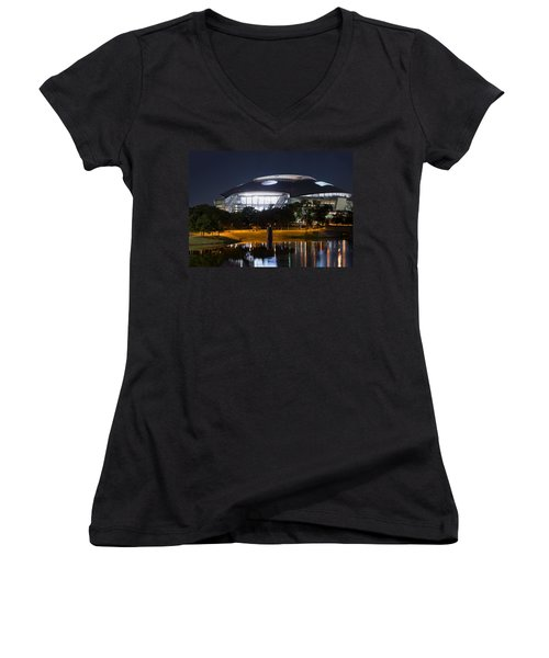 Dallas Cowboys Stadium 1016 Women's V-Neck (Athletic Fit)