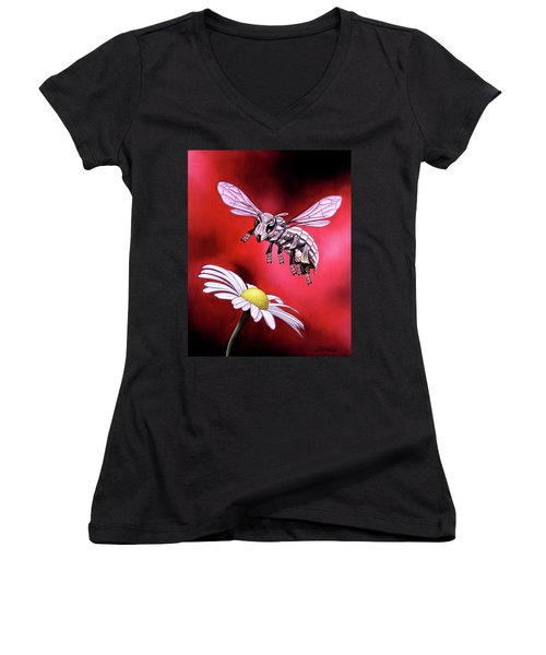 Attack Of The Silver Bee Women's V-Neck