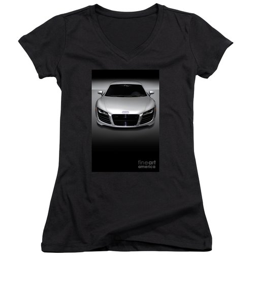 Audi R8 Sports Car Women's V-Neck (Athletic Fit)