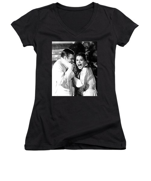 Audrey Hepburn As Holly Golightly Women's V-Neck (Athletic Fit)