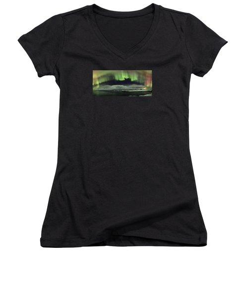 Aurora Polaris Panoramic II Women's V-Neck T-Shirt