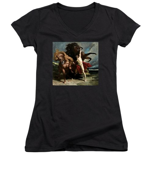 Automedon With The Horses Of Achilles Women's V-Neck