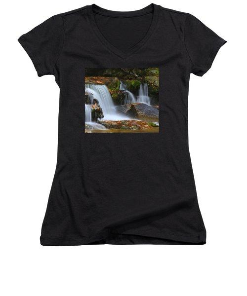 Autumn At Jackson Falls Women's V-Neck T-Shirt