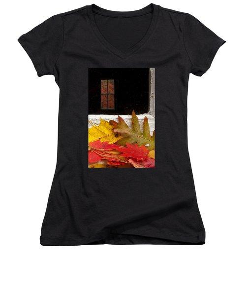 Autumn Colors Women's V-Neck (Athletic Fit)