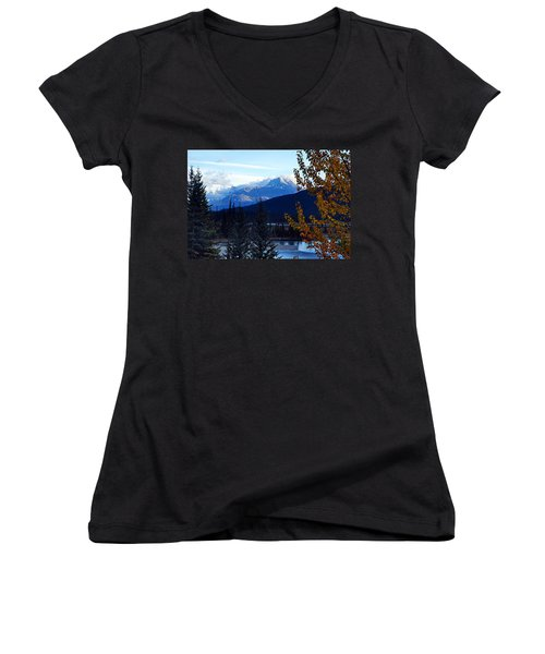 Autumn In The Mountains Women's V-Neck