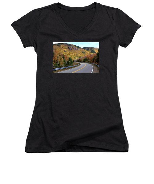 Autumn On The Cabot Trail, Cape Breton, Canada Women's V-Neck (Athletic Fit)