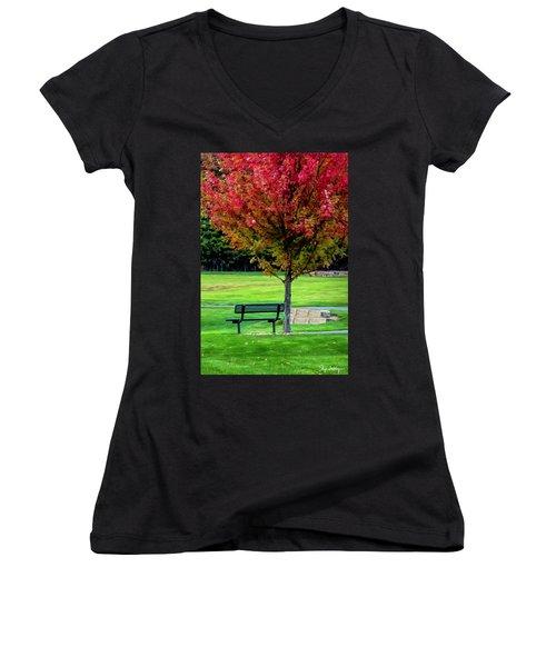 Autumn Park Women's V-Neck (Athletic Fit)