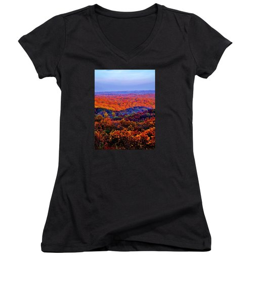 Autumn Rainbow Women's V-Neck (Athletic Fit)