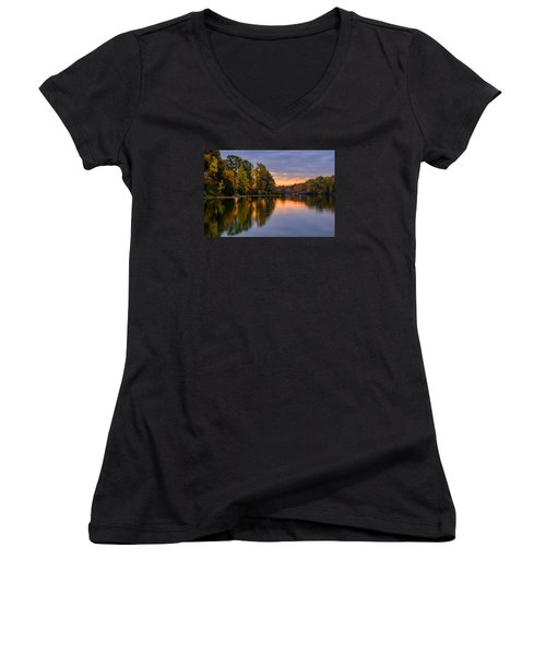 Autumn Reflections Women's V-Neck (Athletic Fit)